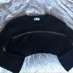 LF Zip Crop Sweater